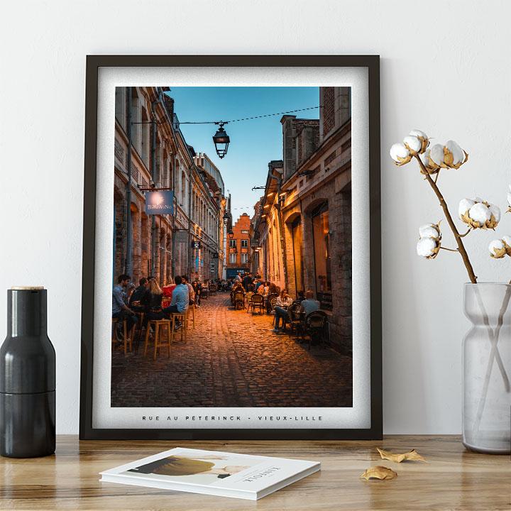 rue au péterinck affiche de Lille photo