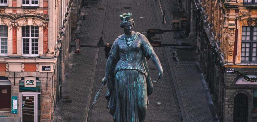 Déesse de Lille : Quand la statue devait se trouver sur les champs élysées